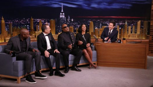 """Michelle Obama, Jerry Seinfeld, Dave Chappelle, Stevie Wonder Appear On Fallon's """"Tonight Show"""""""