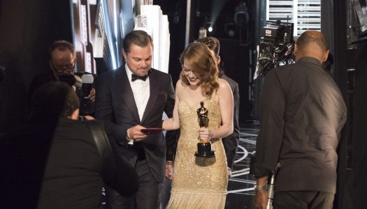 Behind-The-Scenes Oscars Look: Emma Stone Celebrates Win; Gosling Chats With Ali