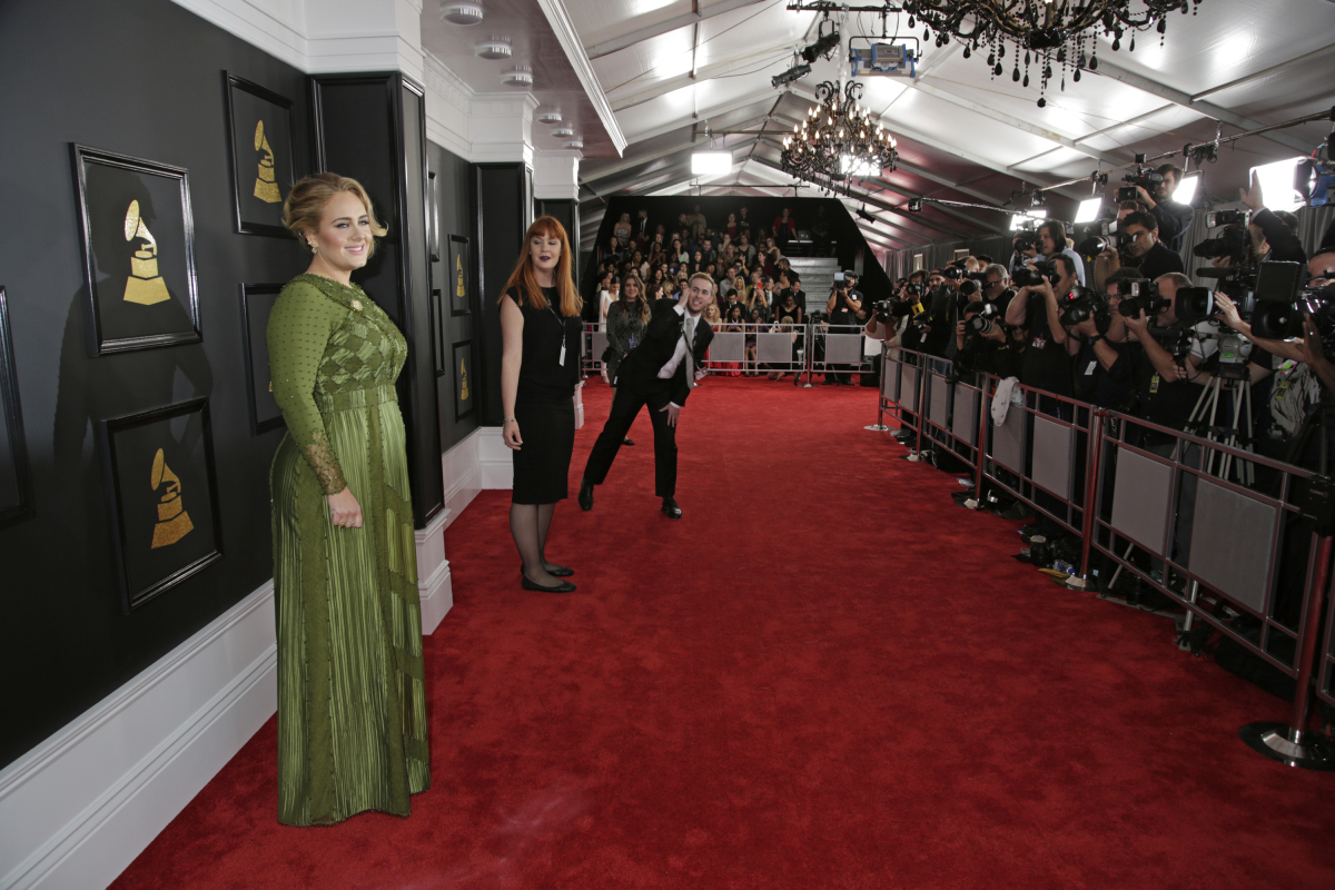 Grammys: Adele, Jane Zhang, More Walk Red Carpet
