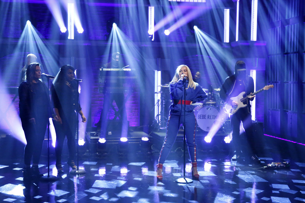 LATE NIGHT WITH SETH MEYERS -- Episode 491 -- Pictured: Musical guest Bebe Rexha performs on February 16, 2017 -- (Photo by: Lloyd Bishop/NBC)