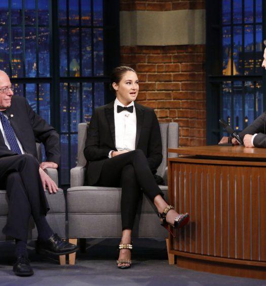 Bernie & Shailene on LNSM [NBC]