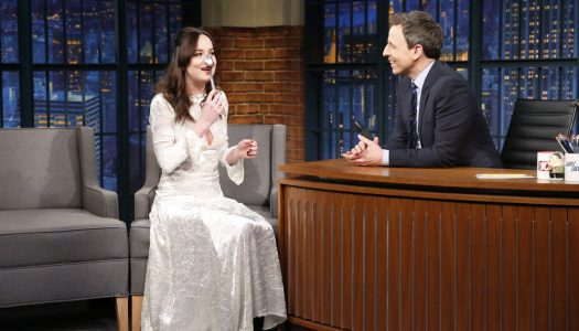 "First Look: Dakota Johnson Appears On Wednesday's ""Late Night With Seth Meyers"""