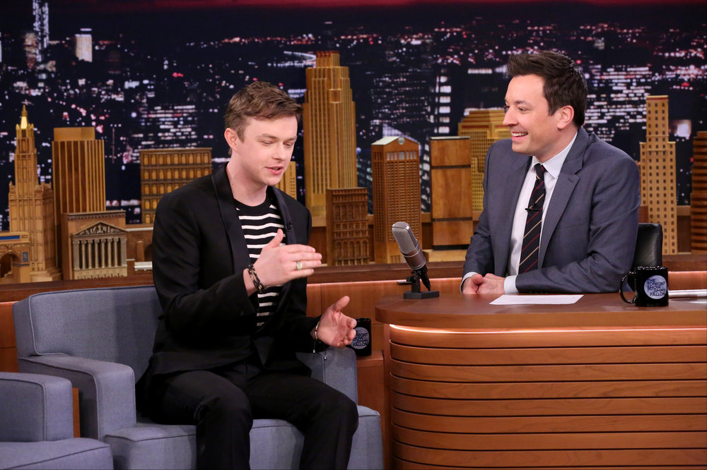 THE TONIGHT SHOW STARRING JIMMY FALLON -- Episode 0625 -- Pictured: (l-r) Actor Dane DeHaan during an interview with host Jimmy Fallon on February 15, 2017 -- (Photo by: Andrew Lipovsky/NBC)