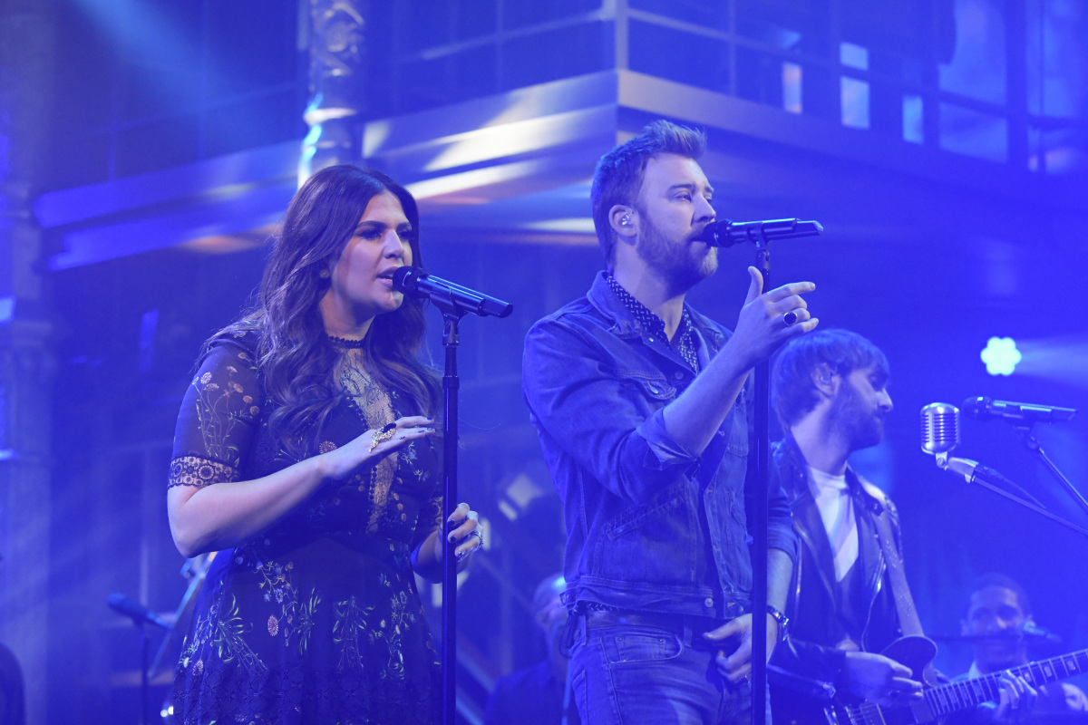 The Late Show with Stephen Colbert on Thursday, Feb. 16, 2017 with musical performance by Lady Antebellum (n) Photo: Mary Kouw/CBS ©2017 CBS Broadcasting Inc. All Rights Reserved