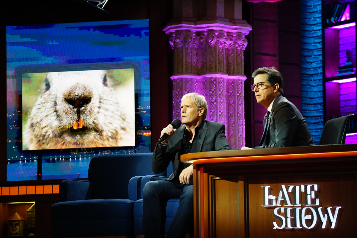 The Late Show with Stephen Colbert on Wednesday, February 1, 2017 with guests Dr. Phil, executive producer of the CBS drama series BULL; Michael Bolton; musical performance by Maren Morris (n) Photo: Mary Kouw/CBS ©2017 CBS Broadcasting Inc. All Rights Reserved