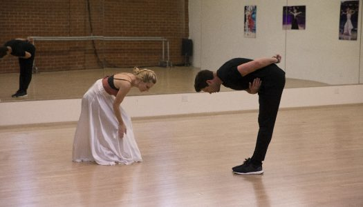 """First Look: Heather Morris, Maksim Chmerkovskiy Rehearse For """"Dancing With The Stars"""""""