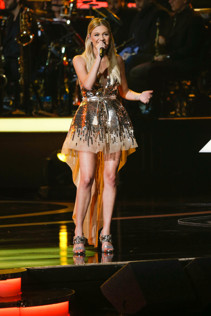 "Music stars Andra Day, Celine Dion, DNCE, Nick Jonas, Tori Kelly, Little Big Town, Demi Lovato, Katharine McPhee, Panic! at the Disco, Pentatonix, Ed Sheeran, Keith Urban, Kelsea Ballerini & Thomas Rhett, Jason Derulo & Tavares, John Legend & Stevie Wonder and Barry Gibb celebrate the Bee Gees' remarkable music catalog on, ""STAYIN' ALIVE: A GRAMMY® SALUTE TO THE MUSIC OF THE BEE GEES,"" Sunday, April, 16 (8:00-10:00 PM, ET/ PT) on the CBS Television Network. Pictured L-R: Thomas Rhett and Kelsea Ballerini Photo: Monty Brinton/CBS ©2017 CBS Broadcasting, Inc. All Rights Reserved"