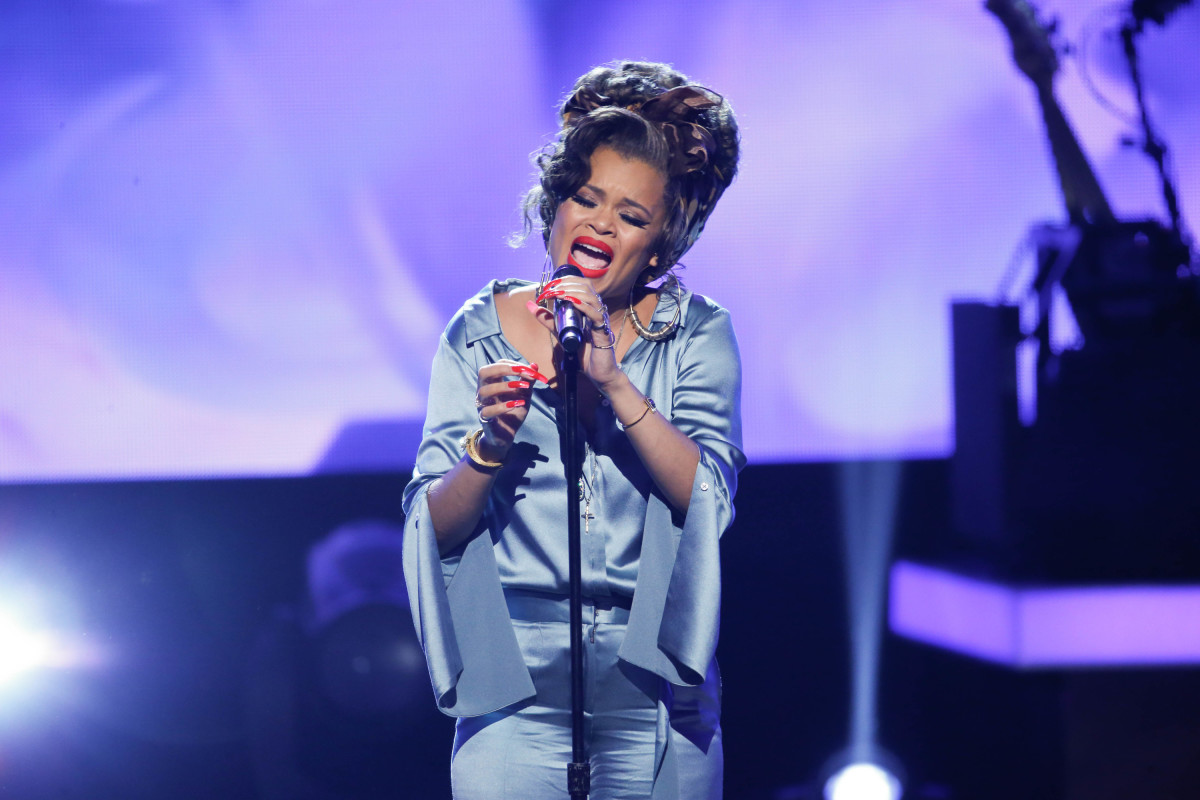 "Music stars Andra Day, Celine Dion, DNCE, Nick Jonas, Tori Kelly, Little Big Town, Demi Lovato, Katharine McPhee, Panic! at the Disco, Pentatonix, Ed Sheeran, Keith Urban, Kelsea Ballerini & Thomas Rhett, Jason Derulo & Tavares, John Legend & Stevie Wonder and Barry Gibb celebrate the Bee Gees' remarkable music catalog on, ""STAYIN' ALIVE: A GRAMMY® SALUTE TO THE MUSIC OF THE BEE GEES,"" Sunday, April, 16 (8:00-10:00 PM, ET/ PT) on the CBS Television Network. Pictured: Andra Day Photo: Monty Brinton/CBS ©2017 CBS Broadcasting, Inc. All Rights Reserved"