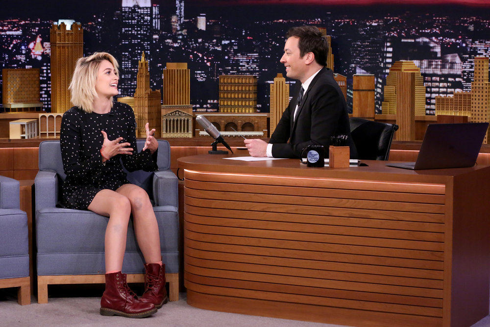 THE TONIGHT SHOW STARRING JIMMY FALLON -- Episode 0642 -- Pictured: (l-r) Actress Paris Jackson during an interview with host Jimmy Fallon on March 20, 2017 -- (Photo by: Andrew Lipovsky/NBC)