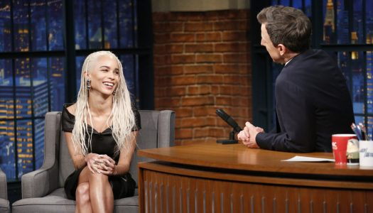"Zoe Kravitz Appears, Jon Pardi Performs On Seth Meyers' ""Late Night"" (Watch)"