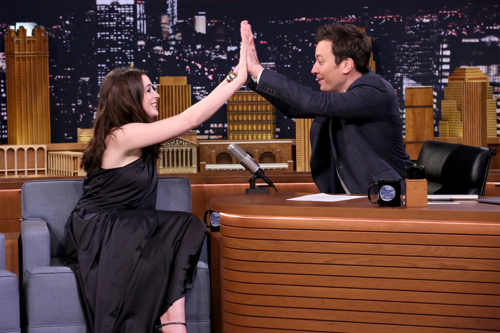Anne Hathaway sings Google Translate songs gone wrong with Jimmy Fallon