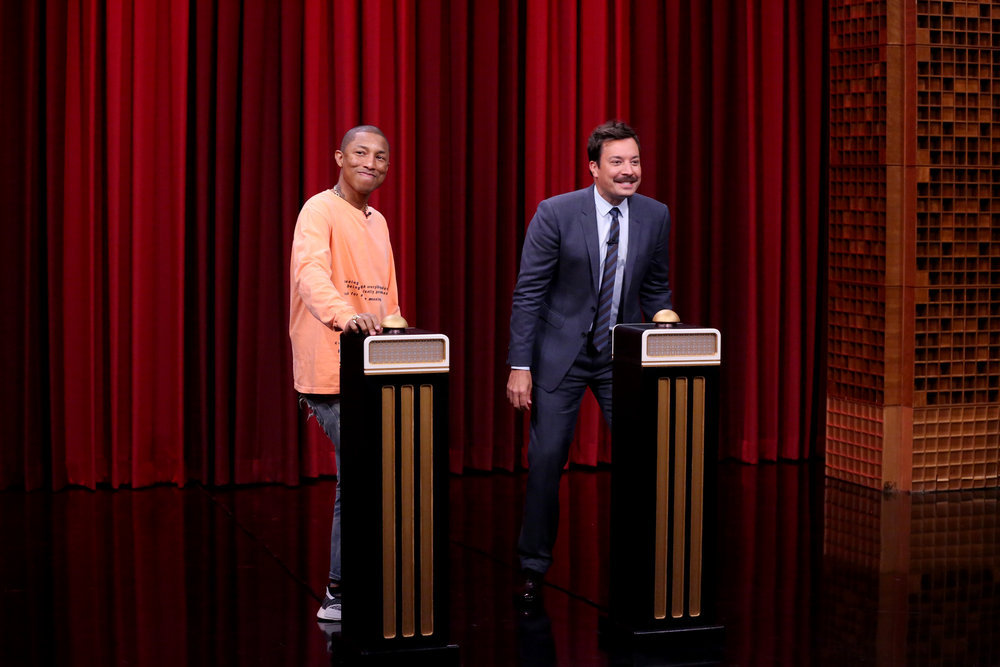 Pharrell Opens Up About Raising Triplets on 'The Tonight Show'
