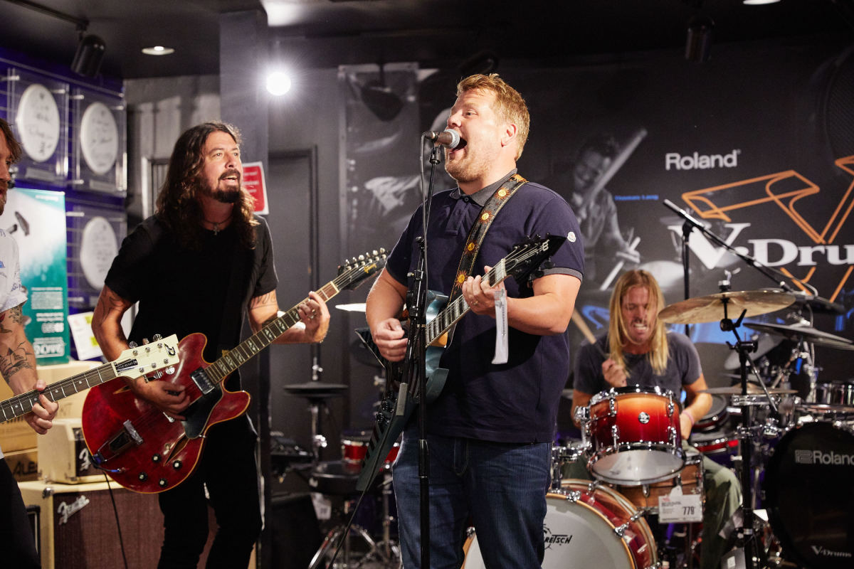 Foo Fighters give it socks in epic Carpool Karaoke performance