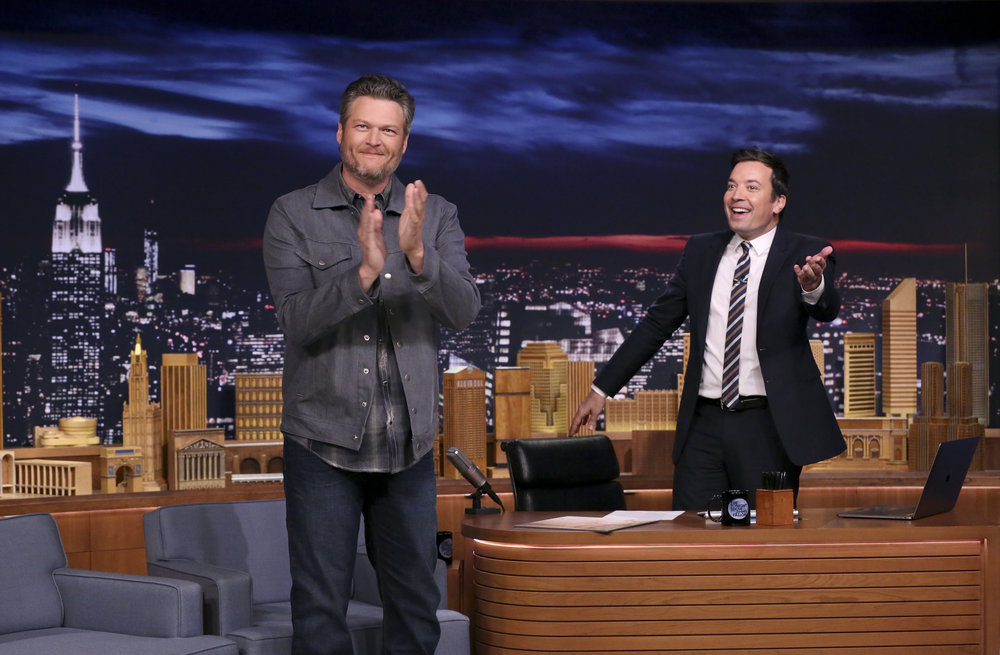 Blake Shelton On Tonight Show With Jimmy Fallon