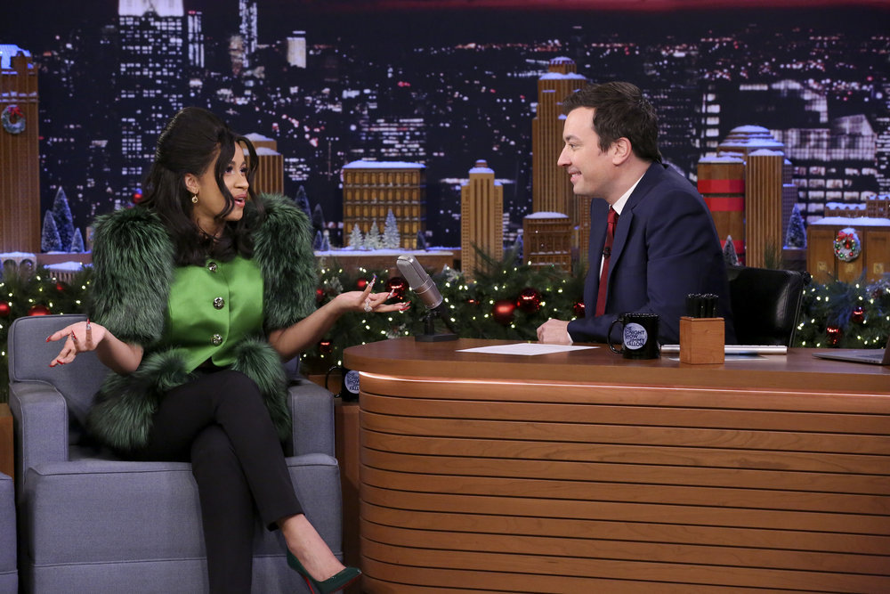 Cardi B Talks Christmas Shopping, Bacardi & Offset on 'Fallon'
