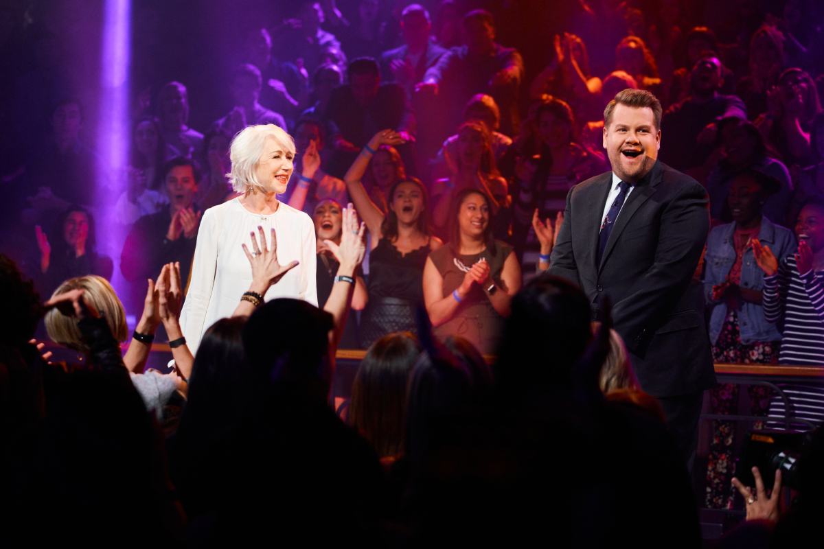 Rapping Queen Helen Mirren Totally Destroys James Corden in Battle