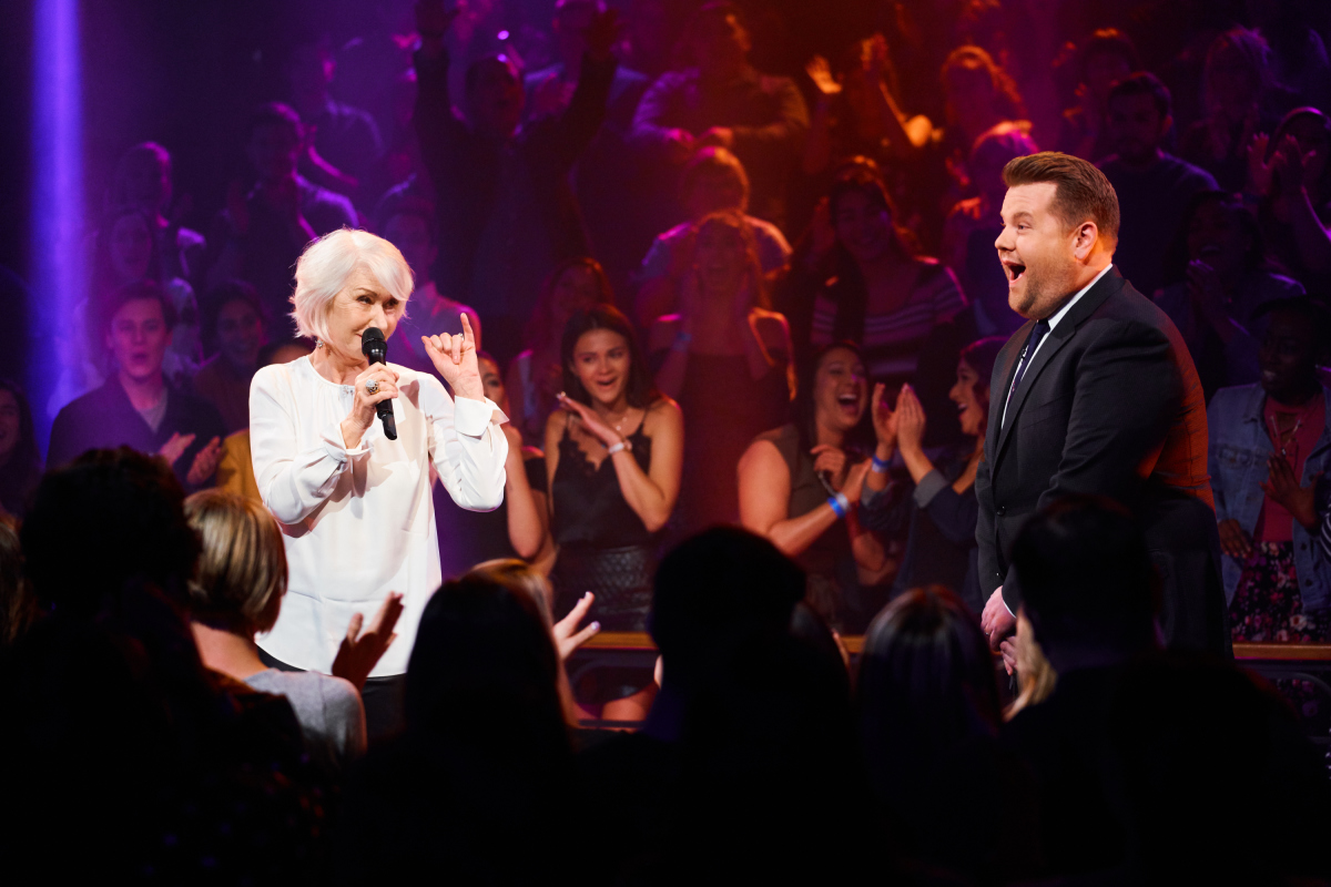 Iconic Actress Helen Mirren Rap Battles James Corden