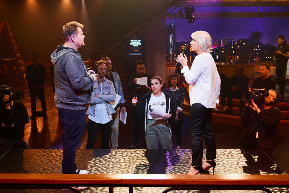 Helen Mirren, James Corden have rap battle on 'Late Late Show'
