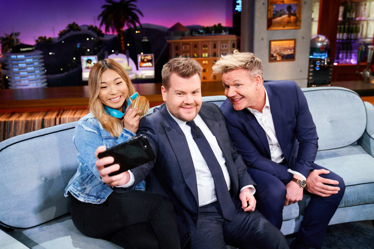 Gordon Ramsay Tries Bull Penis And Salmon Ice-Cream On James Corden's Show