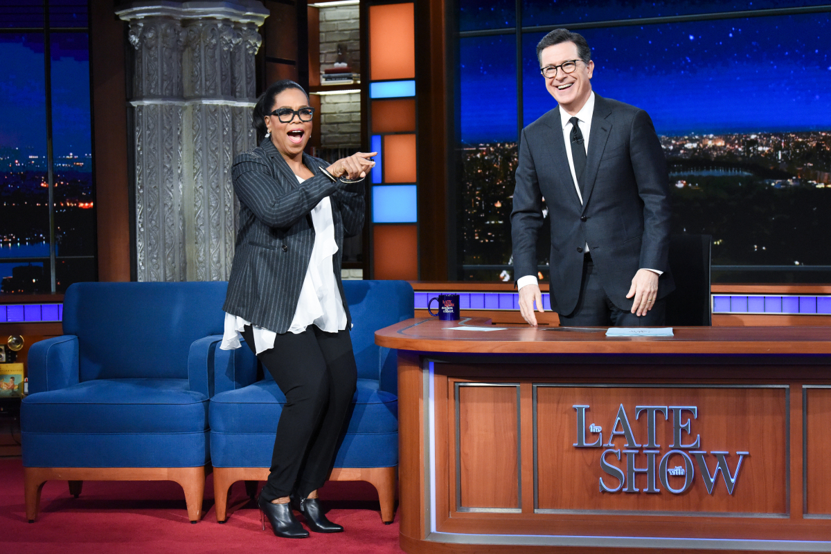 Stephen Colbert asks 'God' to make Oprah Winfrey run for USA  president