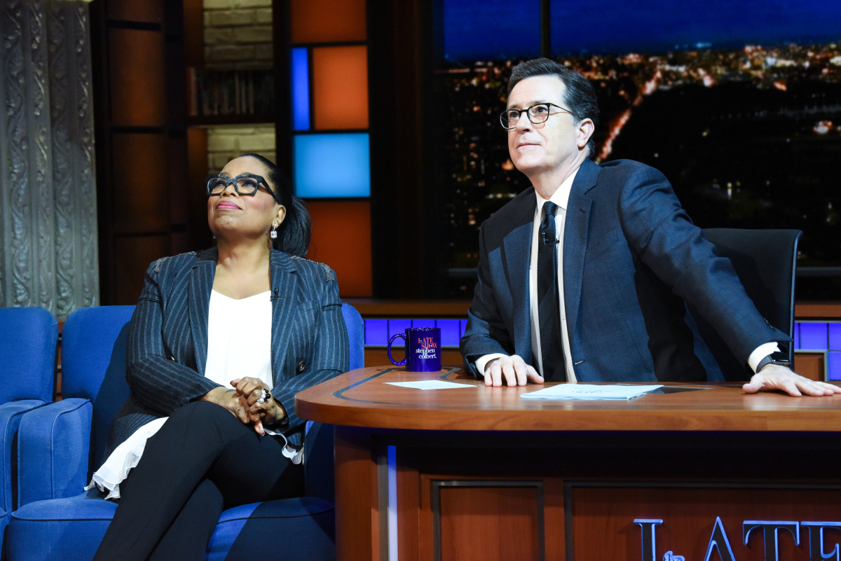 Stephen Colbert Mocks Christianity To Convince Oprah To Run In 2020