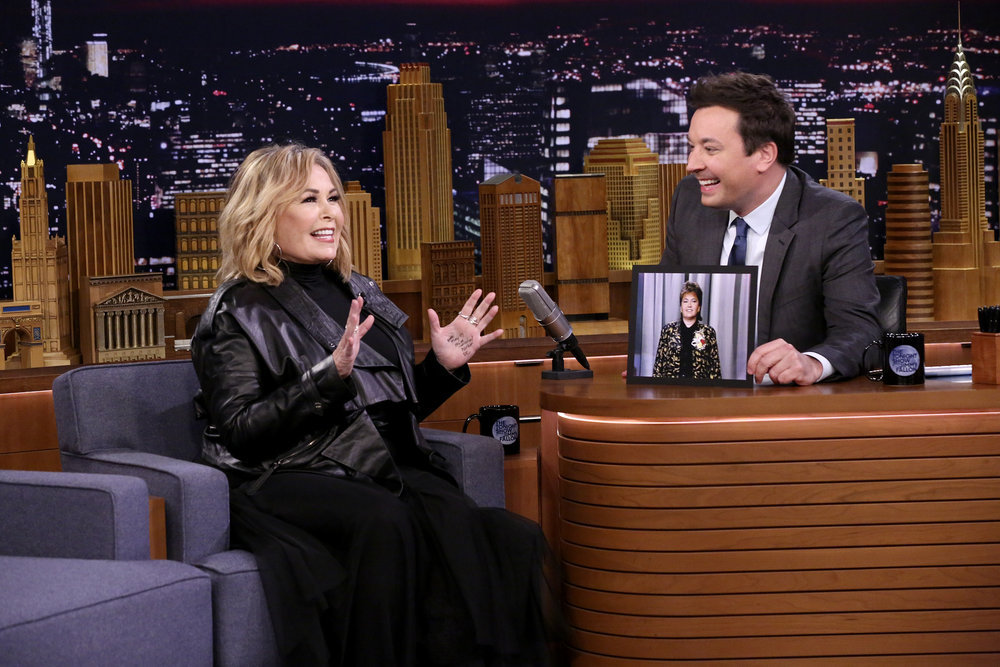 Roseanne Barr defends her Trump support with F-bomb on 'Tonight Show'