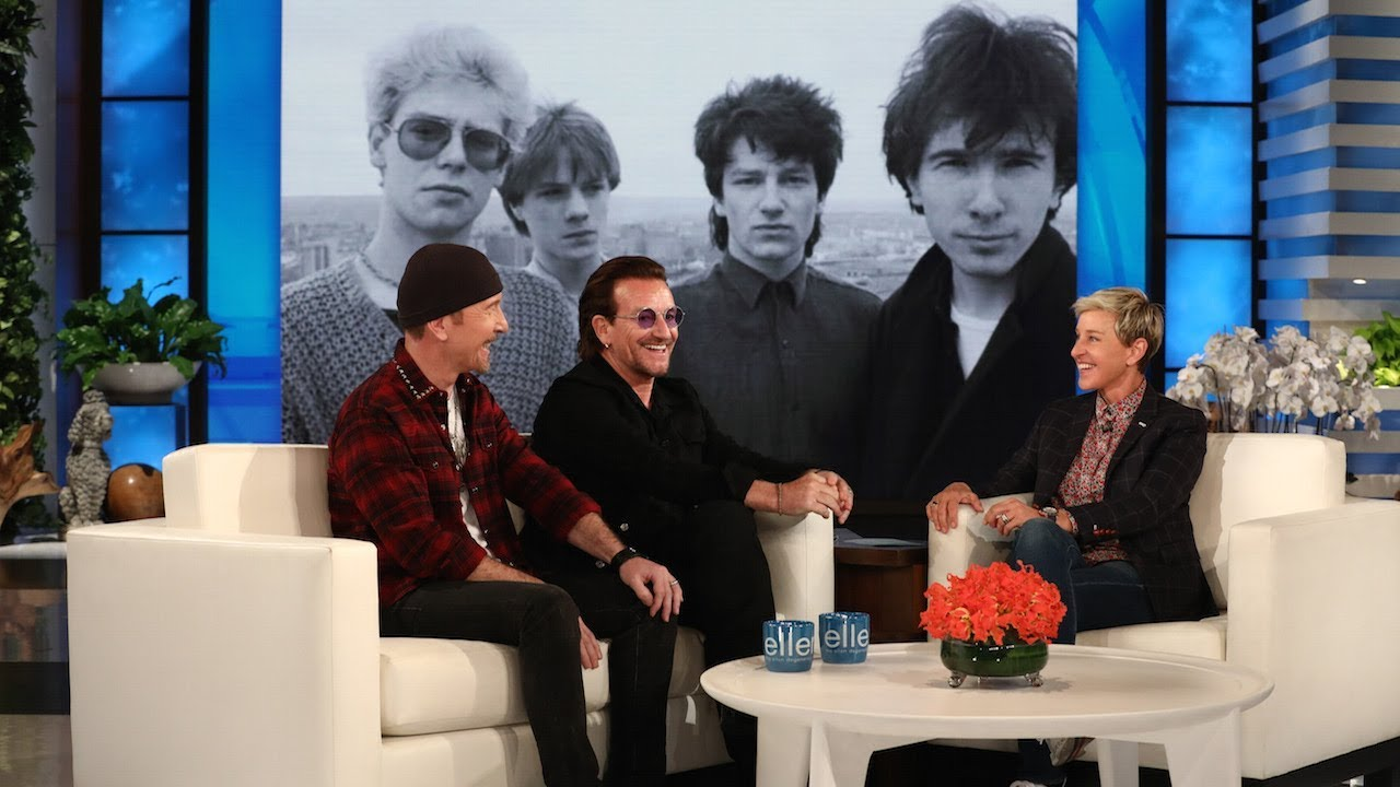 U2s Bono Amp The Edge Appear Perform On The Ellen