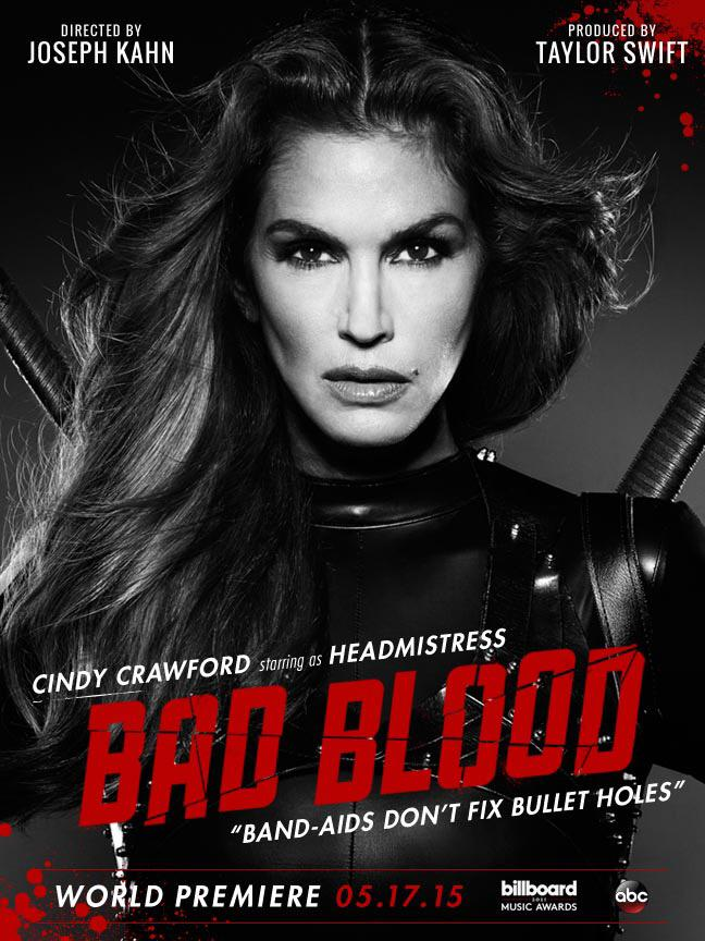 Cindy Crawford as Headmistress in Taylor Swift's Bad Blood video