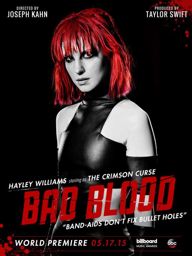 Hayley Williams Will Play Crimson Curse In Taylor Swift S Bad Blood Video