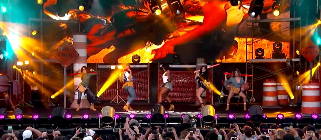 "Fifth Harmony - ""Work From Home"" en Kimmel Show - 1"