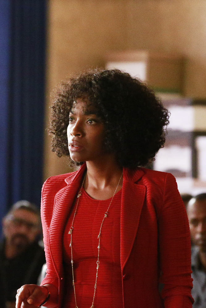 """HOW TO GET AWAY WITH MURDER - """"Always Bet Black"""" - Annalise presents her class with a high-profile murder case that pushes even the Keating 5's morals, while Laurel makes a shocking discovery through an unlikely source, on """"How to Get Away with Murder,"""" THURSDAY, OCTOBER 6 (10:00-11:00 p.m. EDT), on the ABC Television Network. (ABC/Mitch Haaseth) MILUANA JACKSON"""