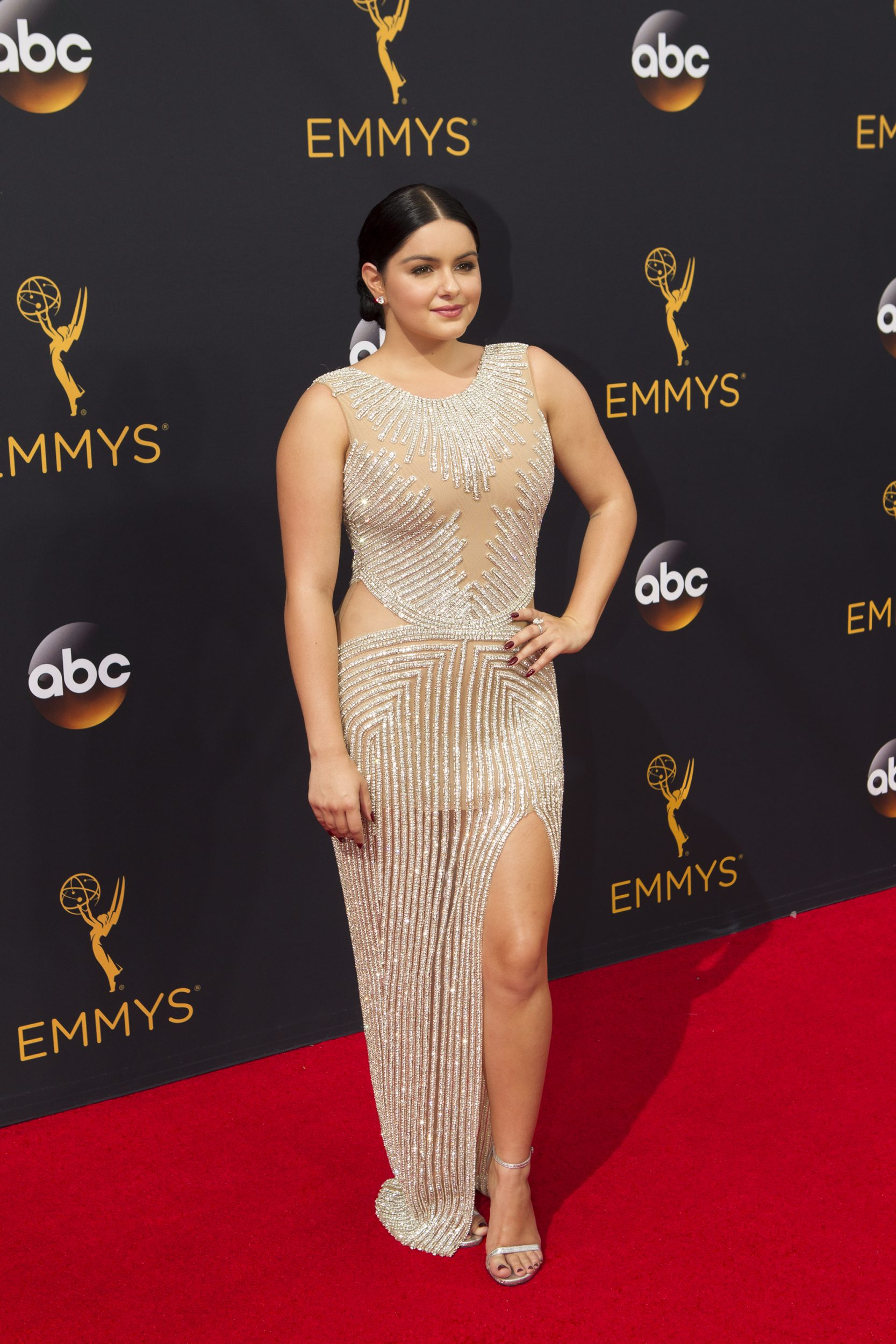 """THE 68TH EMMY(r) AWARDS - """"The 68th Emmy Awards"""" broadcasts live from The Microsoft Theater in Los Angeles, Sunday, September 18 (7:00-11:00 p.m. EDT/4:00-8:00 p.m. PDT), on ABC and is hosted by Jimmy Kimmel. (ABC/Rick Rowell) ARIEL WINTER"""