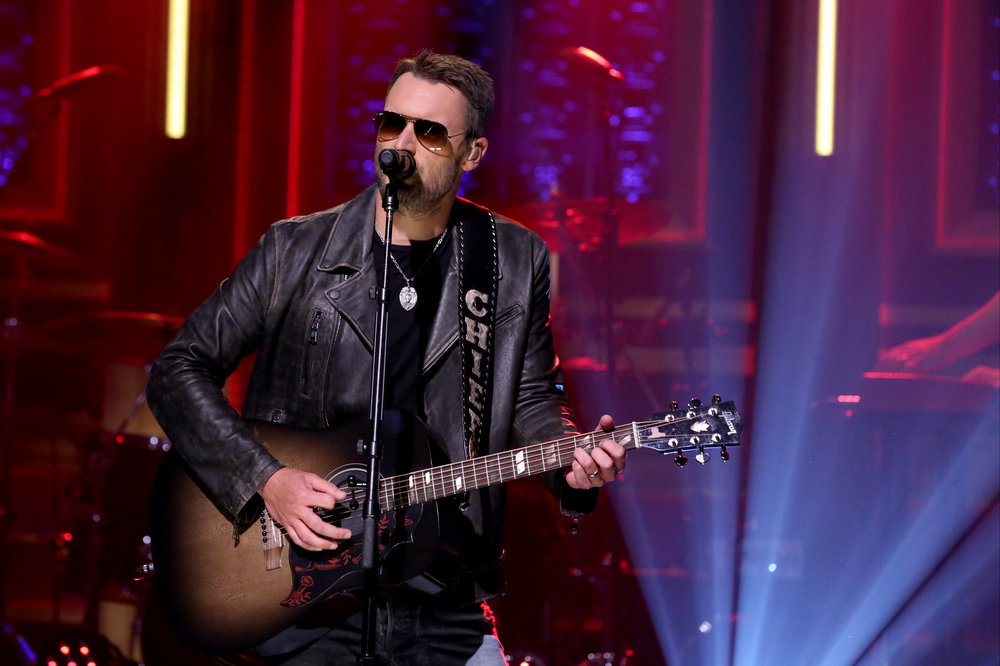 THE TONIGHT SHOW STARRING JIMMY FALLON -- Episode 0531 -- Pictured: Musical guest Eric Church performs on September 12, 2016 -- (Photo by: Andrew Lipovsky/NBC)
