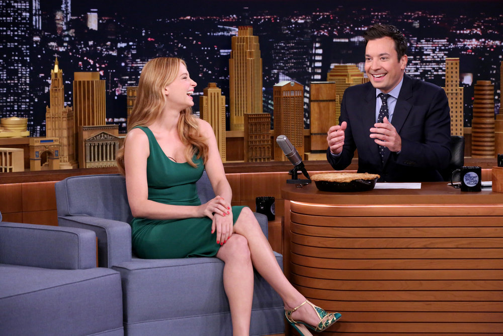 THE TONIGHT SHOW STARRING JIMMY FALLON -- Episode 0540 -- Pictured: (l-r) Actress Haley Bennett during an interview with host Jimmy Fallon on September 23, 2016 -- (Photo by: Andrew Lipovsky/NBC)