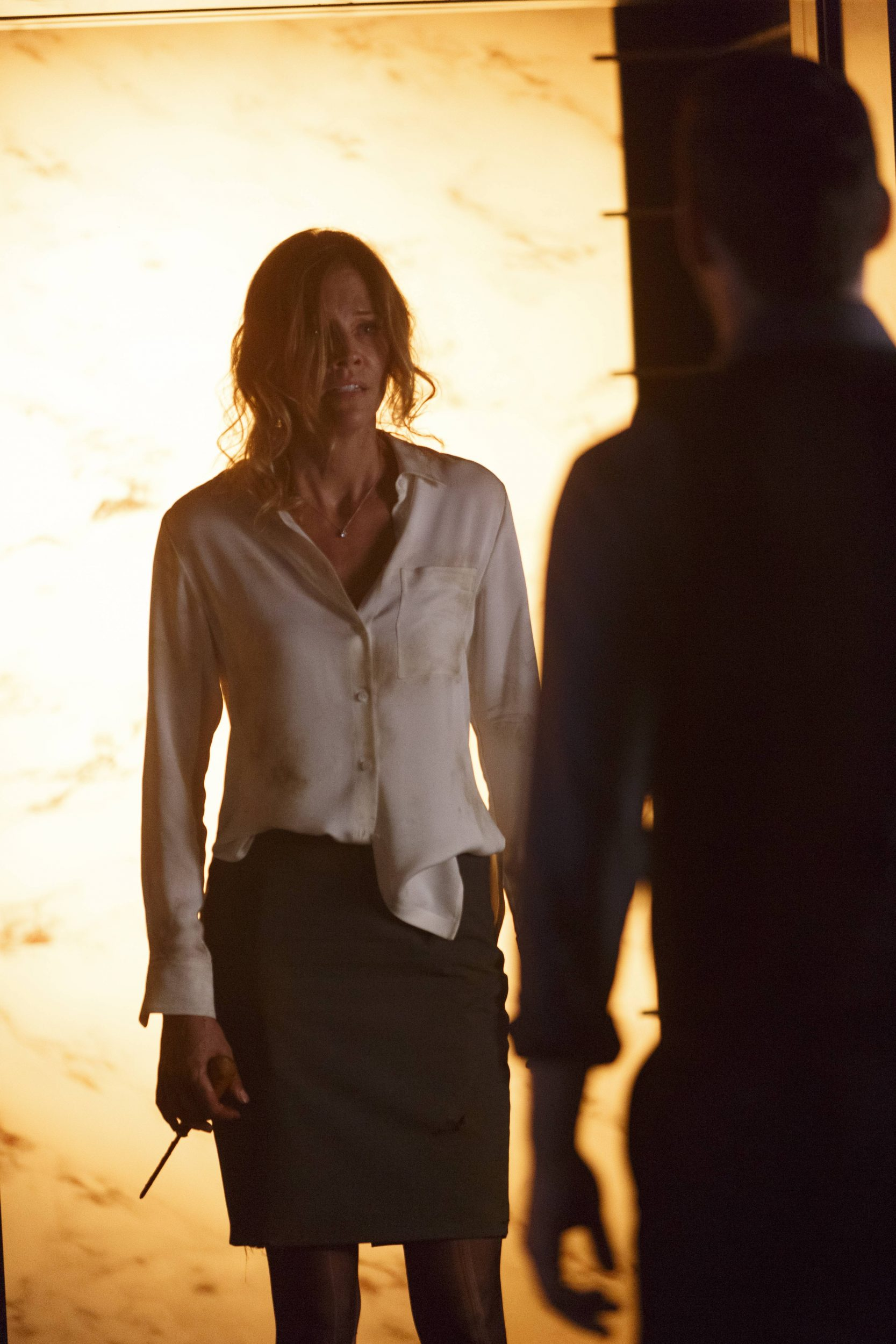 LUCIFER: Tricia Helfer in ÒEverythingÕs Coming Up LuciferÓ season premiere episode of LUCIFER airing Monday, Sept. 19 (9:01-10:00 PM ET/PT) on FOX ©2016 Fox Broadcasting Co. Cr: Michael Courtney/FOX.