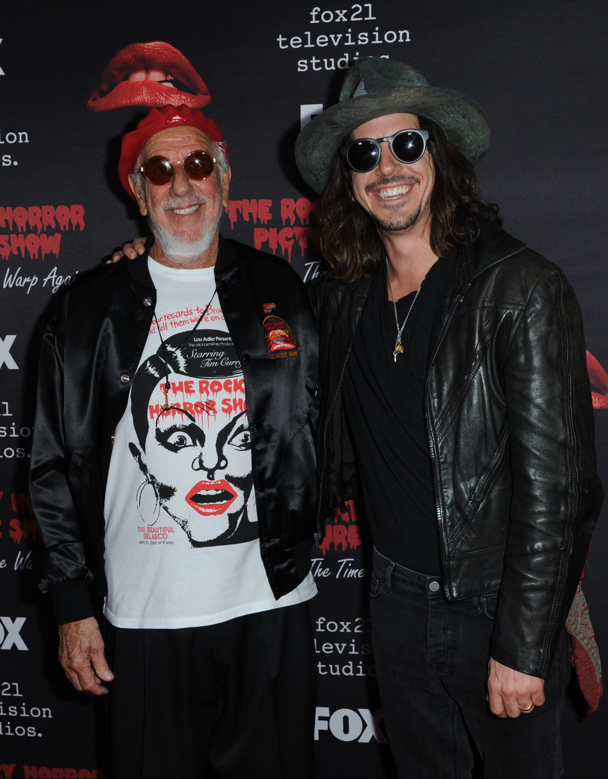 THE ROCKY HORROR PICTURE SHOW: Let's Do The Time Warp Again (and Transylvanians!): L-R: Executive Producer Lou Adler and Music Producer Cisco Adler arrive at THE ROCKY HORROR PICTURE SHOW: Let's Do The Time Warp Again (and Transylvanians!) premiere party red carpet at The Roxy on Thursday, Oct. 13, in Los Angeles, CA. THE ROCKY HORROR PICTURE SHOW: Let's Do The Time Warp Again (And Transylvanians!) premieres Thursday, Oct. 20 (8:00-10:00 PM ET/PT) on FOX. © 2016 FOX BROADCASTING CR: Richard Shotwell/FOX