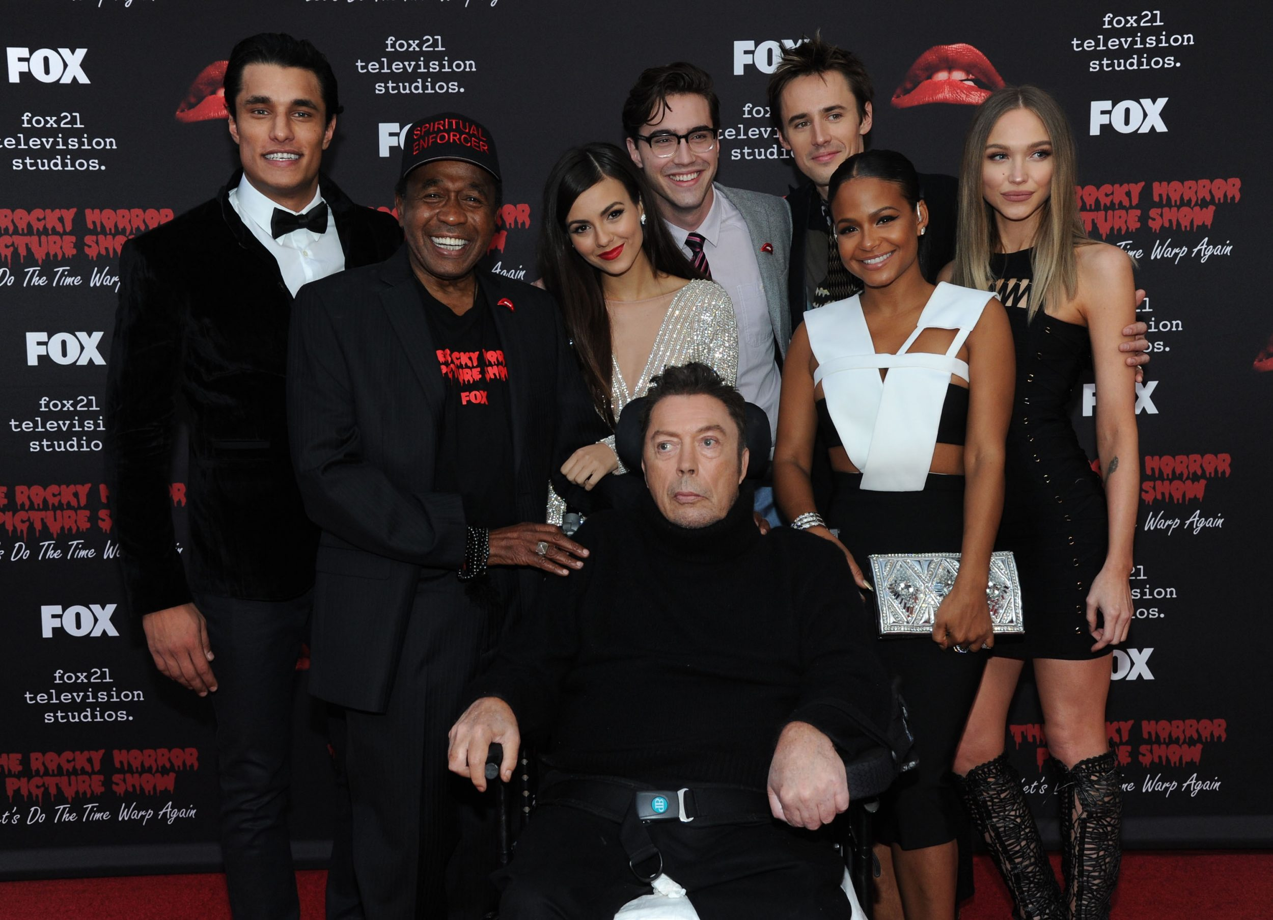THE ROCKY HORROR PICTURE SHOW: Let's Do The Time Warp Again (and Transylvanians!): L-R: Cast members Staz Nair, Ben Vereen, Victoria Justice, Tim Curry, Ryan McCartan, Reeve Carney, Christina Milian and Ivy Levan arrive at THE ROCKY HORROR PICTURE SHOW: Let's Do The Time Warp Again (and Transylvanians!) premiere party red carpet at The Roxy on Thursday, Oct. 13, in Los Angeles, CA. THE ROCKY HORROR PICTURE SHOW: Let's Do The Time Warp Again (And Transylvanians!) premieres Thursday, Oct. 20 (8:00-10:00 PM ET/PT) on FOX. © 2016 FOX BROADCASTING CR: Richard Shotwell/FOX