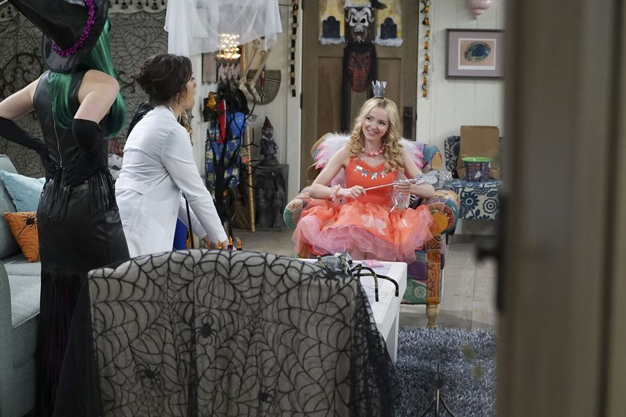 "LIV AND MADDIE: CALI STYLE – ""Scare-A-Rooney"" – Liv takes Ruby to a spooky dinner and runs into an old acquaintance and Maddie comes face to face with the real-life 'spider-sprayer. Meanwhile, Parker and Joey must convince their classmates to celebrate Halloween. This episode of ""Liv and Maddie: Cali Style"" airs FRIDAY, OCTOBER 14 (8:00 P.M. EDT) on Disney Channel. (Disney Channel/Eric McCandless) DOVE CAMERON"