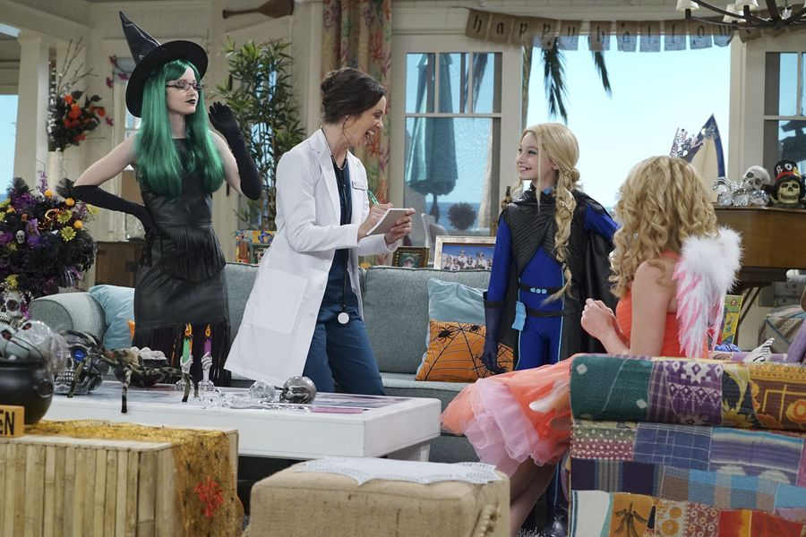 "LIV AND MADDIE: CALI STYLE – ""Scare-A-Rooney"" – Liv takes Ruby to a spooky dinner and runs into an old acquaintance and Maddie comes face to face with the real-life 'spider-sprayer. Meanwhile, Parker and Joey must convince their classmates to celebrate Halloween. This episode of ""Liv and Maddie: Cali Style"" airs FRIDAY, OCTOBER 14 (8:00 P.M. EDT) on Disney Channel. (Disney Channel/Eric McCandless) DOVE CAMERON, KALI ROCHA, LAUREN LINDSEY DONZIS"