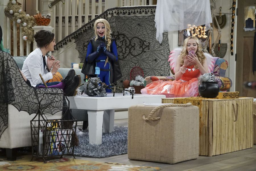 "LIV AND MADDIE: CALI STYLE – ""Scare-A-Rooney"" – Liv takes Ruby to a spooky dinner and runs into an old acquaintance and Maddie comes face to face with the real-life 'spider-sprayer. Meanwhile, Parker and Joey must convince their classmates to celebrate Halloween. This episode of ""Liv and Maddie: Cali Style"" airs FRIDAY, OCTOBER 14 (8:00 P.M. EDT) on Disney Channel. (Disney Channel/Eric McCandless) KALI ROCHA, LAUREN LINDSEY DONZIS, DOVE CAMERON"