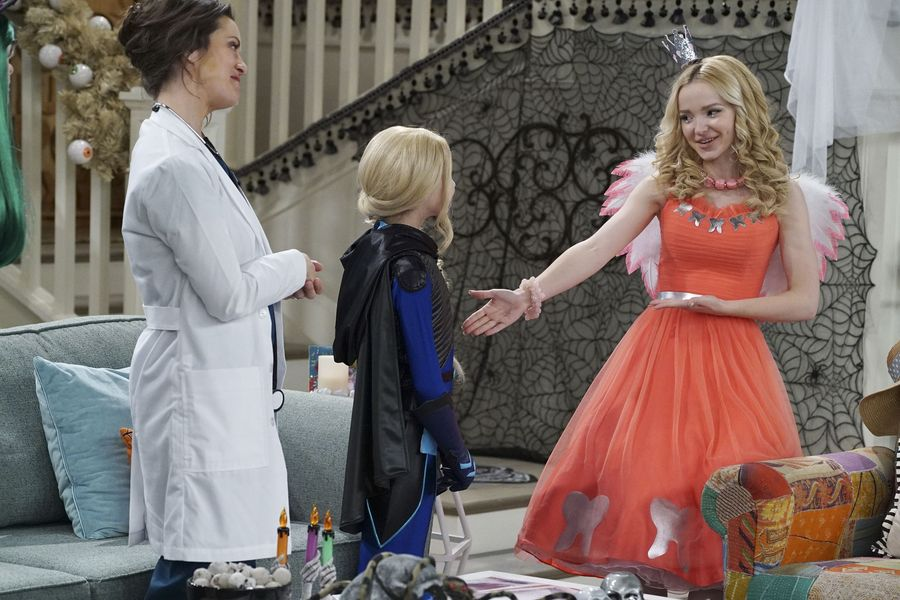 "LIV AND MADDIE: CALI STYLE – ""Scare-A-Rooney"" – Liv takes Ruby to a spooky dinner and runs into an old acquaintance and Maddie comes face to face with the real-life 'spider-sprayer. Meanwhile, Parker and Joey must convince their classmates to celebrate Halloween. This episode of ""Liv and Maddie: Cali Style"" airs FRIDAY, OCTOBER 14 (8:00 P.M. EDT) on Disney Channel. (Disney Channel/Eric McCandless) KALI ROCHA, DOVE CAMERON"