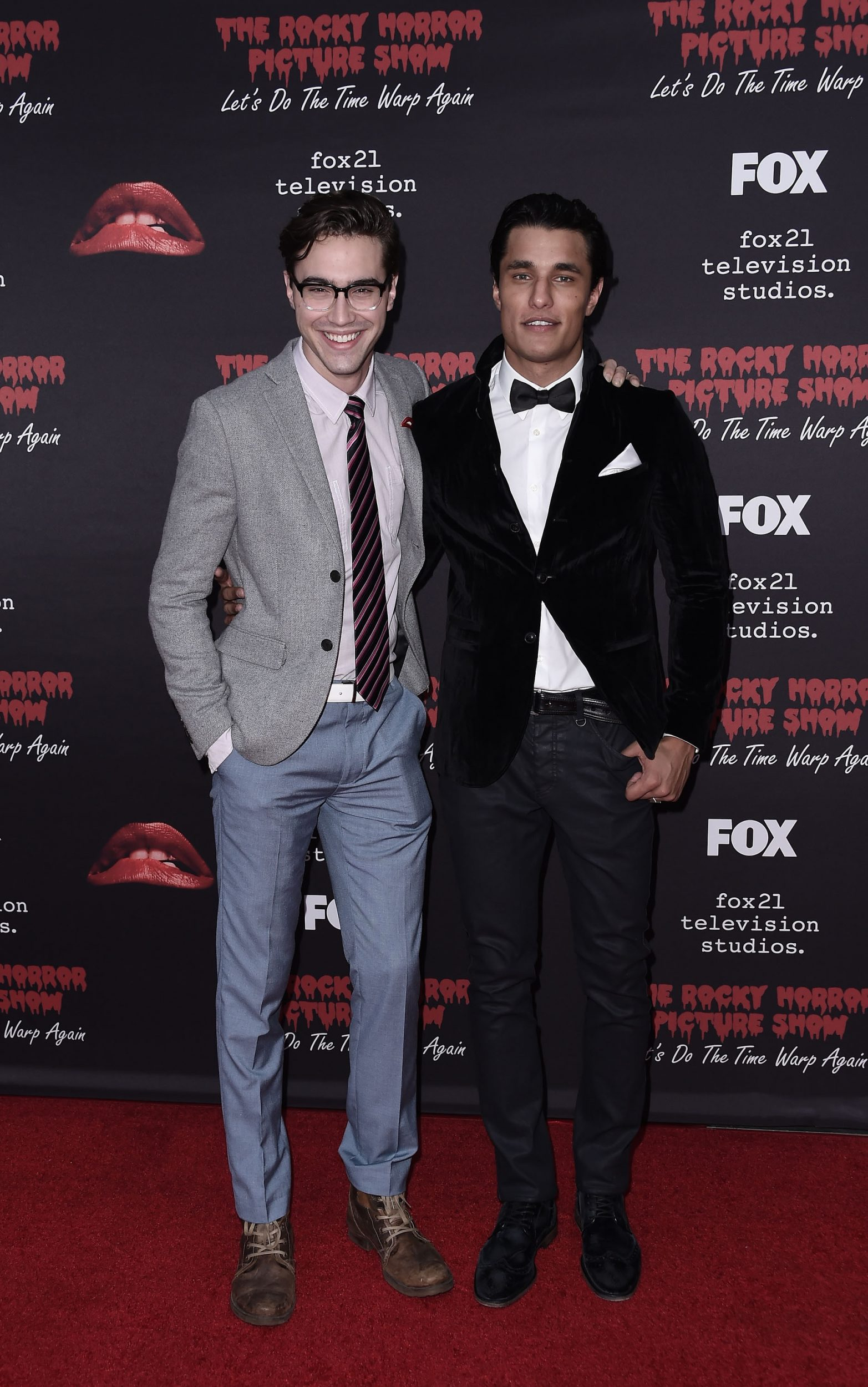 THE ROCKY HORROR PICTURE SHOW: Let's Do The Time Warp Again (and Transylvanians!): L-R: Cast members Ryan McCartan and Staz Nair arrive at THE ROCKY HORROR PICTURE SHOW: Let's Do The Time Warp Again (and Transylvanians!) premiere party red carpet at The Roxy on Thursday, Oct. 13, in Los Angeles, CA. THE ROCKY HORROR PICTURE SHOW: Let's Do The Time Warp Again (And Transylvanians!) premieres Thursday, Oct. 20 (8:00-10:00 PM ET/PT) on FOX. © 2016 FOX BROADCASTING CR: Scott Kirkland/FOX