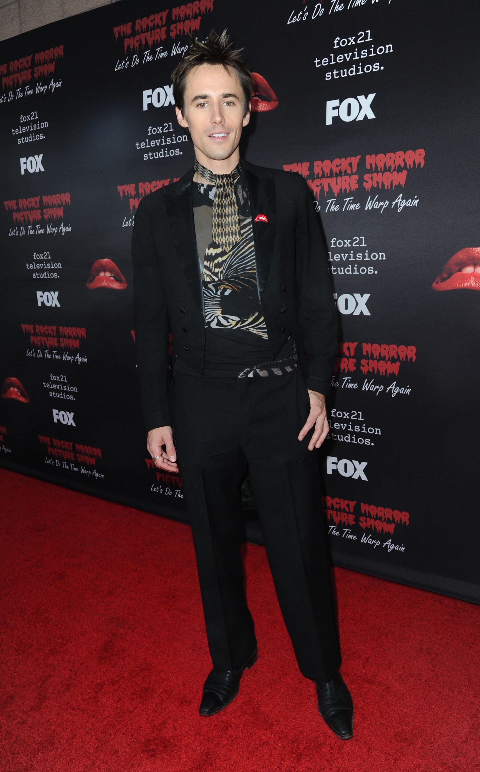 THE ROCKY HORROR PICTURE SHOW: Let's Do The Time Warp Again (and Transylvanians!): Cast member Reeve Carney arrives at THE ROCKY HORROR PICTURE SHOW: Let's Do The Time Warp Again (and Transylvanians!) premiere party red carpet at The Roxy on Thursday, Oct. 13, in Los Angeles, CA. THE ROCKY HORROR PICTURE SHOW: Let's Do The Time Warp Again (And Transylvanians!) premieres Thursday, Oct. 20 (8:00-10:00 PM ET/PT) on FOX. © 2016 FOX BROADCASTING CR: Richard Shotwell/FOX