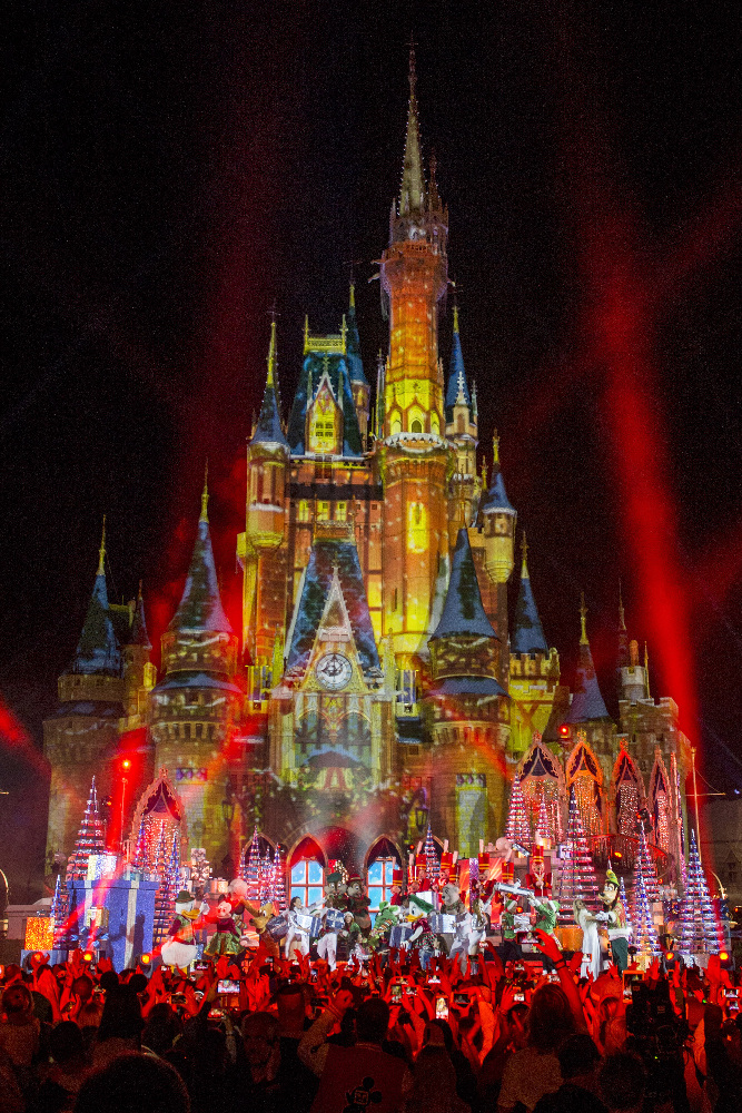 "THE WONDERFUL WORLD OF DISNEY: MAGICAL HOLIDAY CELEBRATION - ""The Wonderful World of Disney: Magical Holiday Celebration"" premieres on THANKSGIVING, THURSDAY, NOVEMBER 24 (8:00-10:00 p.m. EST) on the ABC Television Network and on the ABC app. Join Emmy Award-winners Julianne and Derek Hough as they host the magical two-hour special from the Walt Disney World Resort. They join ""Descendants 2"" star Sofia Carson to kick off the holiday season in a way only Disney can, showcasing extraordinary music performances, special appearances and some unforgettable Disney magic moments. (DISNEY/Kent Phillips) DISNEYLAND"