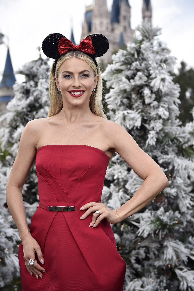 "THE WONDERFUL WORLD OF DISNEY: MAGICAL HOLIDAY CELEBRATION and THE DISNEY PARKS' MAGICAL CHRISTMAS CELEBRATION - ""The Wonderful World of Disney: Magical Holiday Celebration"" premieres on THANKSGIVING, THURSDAY, NOVEMBER 24 (8:00-10:00 p.m. EST) on the ABC Television Network and on the ABC app. Join Emmy Award-winners Julianne and Derek Hough as they host the magical two-hour special from the Walt Disney World Resort. They join ""Descendants 2"" star Sofia Carson to kick off the holiday season in a way only Disney can, showcasing extraordinary music performances, special appearances and some unforgettable Disney magic moments. ""Disney Parks' Magical Christmas Celebration"" will air CHRISTMAS, SUNDAY, DECEMBER 25 (10:00 a.m.-12:00 p.m. EST; air times vary, check listings) on the ABC Television Network and on the ABC and Disney Channel apps. This Christmas, Disney Parks celebrate the joy of the holiday season, as hosts Julianne and Derek Hough take viewers on a magical ride down Main Street and beyond. The Christmas Day celebration will be bigger and brighter than ever before, bringing together the beloved Christmas day parade, magical musical performances, surprise celebrity guests and heart-warming family stories to celebrate the most wonderful time of the year. (DISNEY/Mark Ashman) JULIANNE HOUGH"