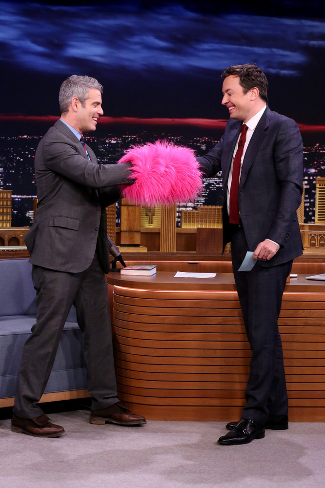 THE TONIGHT SHOW STARRING JIMMY FALLON -- Episode 0570 -- Pictured: (l-r) Talk show host Andy Cohen during an interview with host Jimmy Fallon on November 14, 2016 -- (Photo by: Andrew Lipovsky/NBC)
