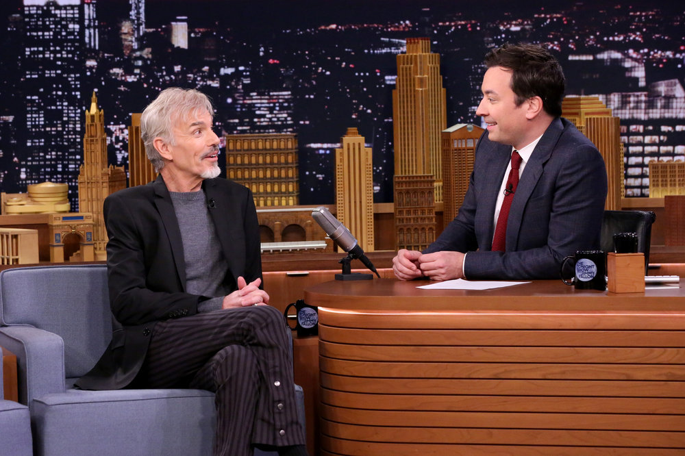 THE TONIGHT SHOW STARRING JIMMY FALLON -- Episode 0570 -- Pictured: (l-r) Actor Billy Bob Thornton during an interview with host Jimmy Fallon on November 14, 2016 -- (Photo by: Andrew Lipovsky/NBC)
