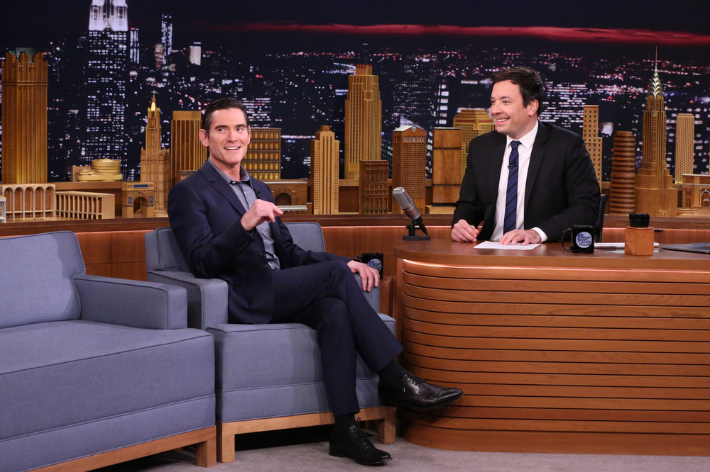 THE TONIGHT SHOW STARRING JIMMY FALLON -- Episode 0581 -- Pictured: (l-r) Actor Billy Crudup during an interview with host Jimmy Fallon on November 30, 2016 -- (Photo by: Andrew Lipovsky/NBC)