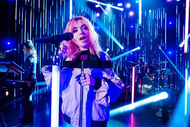 "Musical guest Hey Violet performs during ""The Late Late Show with James Corden,"" Friday, November 11, 2016 (12:35 PM-1:37 AM ET/PT) On The CBS Television Network.  Photo: Terence Patrick/CBS ©2016 CBS Broadcasting, Inc. All Rights Reserved"