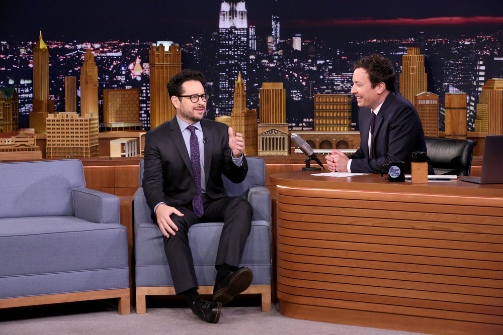 THE TONIGHT SHOW STARRING JIMMY FALLON -- Episode 0580 -- Pictured: (l-r) Director J.J. Abrams during an interview with host Jimmy Fallon on November 29, 2016 -- (Photo by: Andrew Lipovsky/NBC)